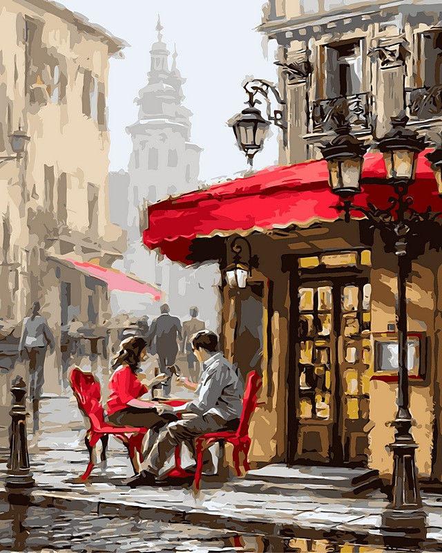 Картины в кафе