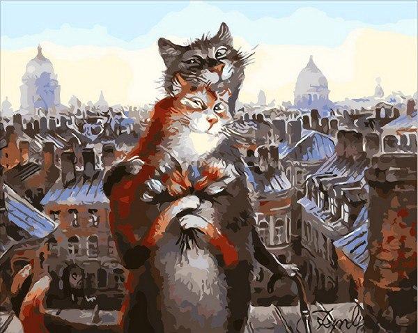Картина по номерам Коты романтики, 40х50см купить в Киеве