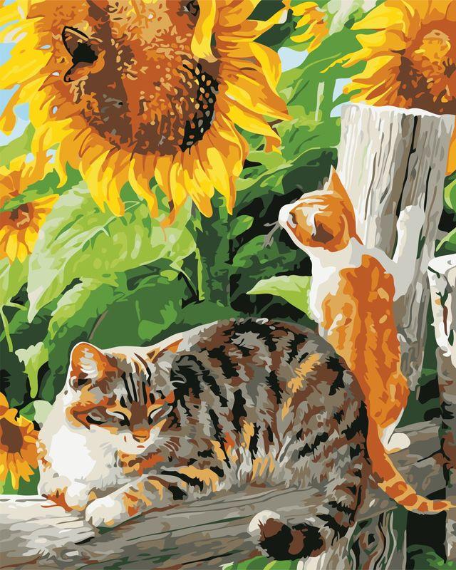 Картина по номерам Деревенские коты 40х50 см купить в Киеве